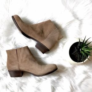 Lucky Brand Tan Benissa Ankle Boots Booties